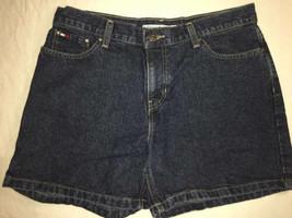 Tommy Hilfiger Women Jean Shorts Size 6 Boyfriend Shorts Blue Denim 5 in inseam - $15.83