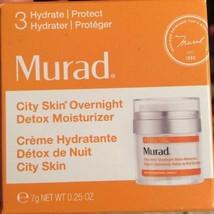 Murad City Skin Overnight Detox Moisturizer 0.25oz New in Box - $6.92