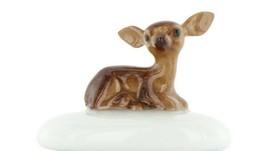 Stepping Stones Fairy Garden Terrarium Miniature Baby Deer Fawn on Blue Opaline