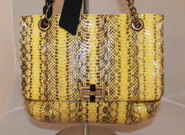 "6500 USD PYTHON HAPPY LANVIN HAND SHOULDER BAG 12"" NEW - $1,748.50"