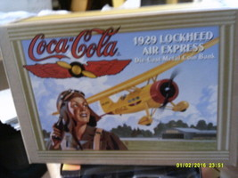 COCA-COLA – 1929 LOCKHEED AIR EXPRESS – DIE CAST METAL COIN BANK -FREE S... - $40.00