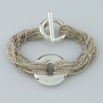 "Tiffany & Co. Sterling Silver Multi-Chain Bracelet w/ Circle Motif 6.5"" Long - $356.39"