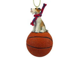 Wire Fox Terrier Red Basketball Ornament - $17.99