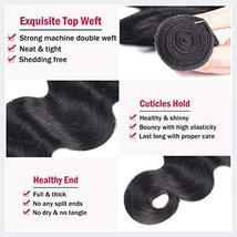 Body Wave Weave Brazilian Virgin Hair Bundles with Closure Unprocessed Brazilian image 5