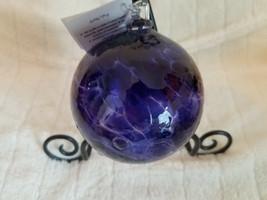 "Felicity Arts Happy Glass Ball, Original Tag, 4 1/2"" VIOLET SKY Color - $36.72"