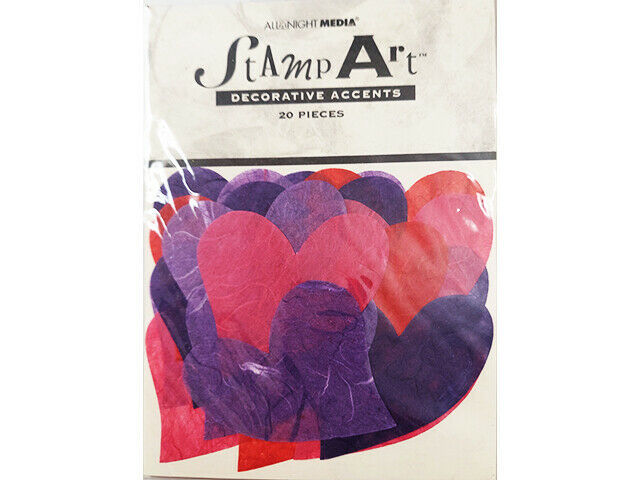 All Night Media Stamp Art Decorative Tissue Paper Heart Accents #5100S
