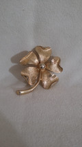 Sarah Coventry, Brooch Pin, Brushed Gold-tone, Floral Design, Fashion Jewelry, V - $24.60
