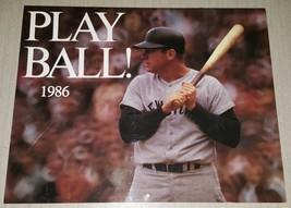 1986 Play Ball Calendar MLB Baseball Mickey Mantle Pete Rose Brock Toura... - $4.94