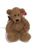 Gund Brown Bear Star Bow Beanbag Curly Fur 41347 Plush Stuffed animal 11... - $24.18