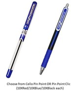 Cello Pin Point Choose from 2 Variants Set of 10 Pens each Ball Pens fro... - $10.75+