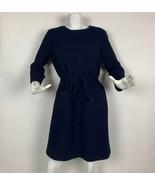Farrington Dress Fabiola Wool Blue Career Sophy Curson Women Sz L 40 France - $399.99