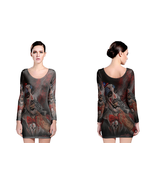 Captain Spaulding Painting  Womens Sexy Long Sleeve Bodycon Dress - $23.99+