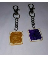 BFF Peanut Butter And Jelly Keychains Accessory Clip On Sandwich Kids  - $6.50