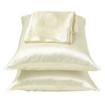 Ivory/White Lingerie Bedding Satin Bed Pillowcases King - $10.99