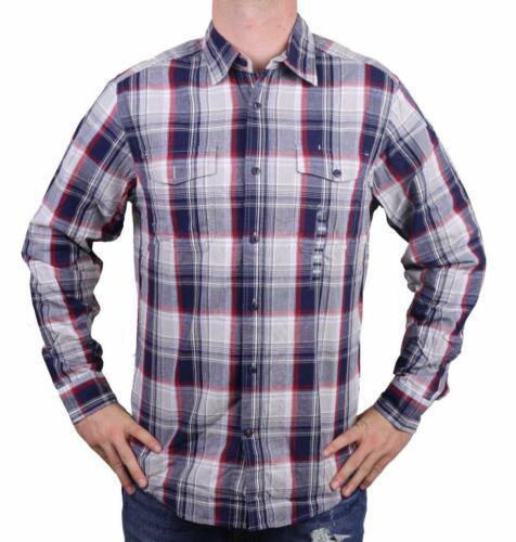 NEW MEN'S DOCKERS CLASSIC FIT CASUAL WOVEN FLANNEL SHIRT PEACOAT 8BW27LK