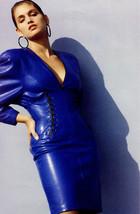 North Beach Leather Black Lace Detail Dress sz 4 Fall 1988 - $145.00