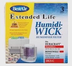 3pk New BEST AIR DU3-C Humidifier Humidi Wick Filter Duracraft Honeywell... - $13.51