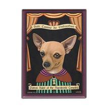 Retro Pets Magnet, Patron Saint Dog Series, Chihuahua, Vintage Advertisi... - $8.49