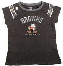 NFL Women's Vintage Arm Stripe Tee Cap Sleeve T-Shirt Shirt Football NEW