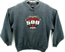 Vintage 1999 Indianapolis 500 Men's Size XL V Neck Sweatshirt Gray - $37.95