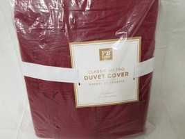 Pottery Barn Teen Classic Metro Duvet Full/queen $159 red - $88.15