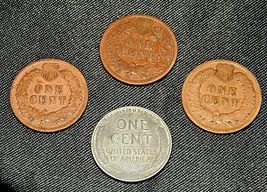 Indian Head Penny 1901, 1902, 1903 and 1943 D Steel Penny AA19-CNP6009 Antique image 4