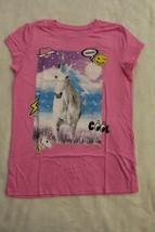 Childrens Place Top Sz M 10 12 XL 14 Pink Unicorn Emoji T-Shirt Spring Summer  - $16.99