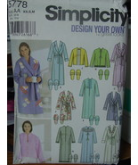 Sewing Pattern Xsm- Med (6-16) Misses Robes & Slippers 5778 UNCUT - $4.99