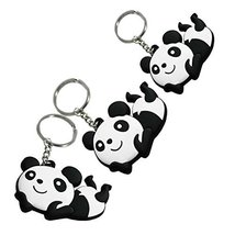 Set of 3 Lovely Panda Superstore Key Chain Portable Car Keychain Key Rings