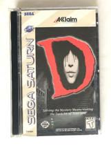 ⭐ D (Sega Saturn 1996) COMPLETE in Box Game Manual Case Survival Horror ... - $86.92 CAD