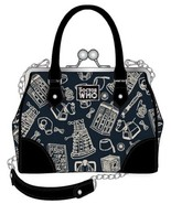 Doctor Dr Who Tardis Police Box Kisslock Bag Handbag Purse Satchel - $59.95