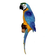 Mediterranean Home Decoration Parrot Wall Hanging   small   blue - $20.03