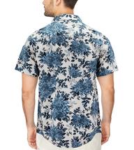 Men's Cotton Short Sleeve Casual Button Down Floral Pattern Dress Shirt image 12