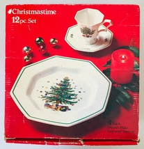 Nikko Christmastime 12 pc Dinner Set Plates Cups & Saucers Made in Japan in Box - $62.88