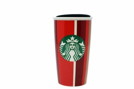 New Starbucks 2018 Holiday Stripe Red Cup Double Wall Travel Tumbler 12 Oz - $28.71