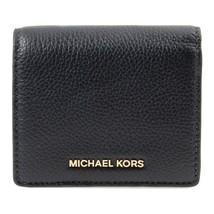 NWT Authentic MICHAEL KORS Mercer Carryall Card Case Wallet Gold Navy 32... - $75.24