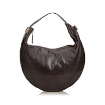 Pre-Loved Gucci Brown Dark Others Leather Duchessa Hobo Bag Italy - $452.54