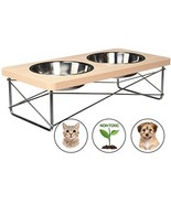 Easyology Stainless Steel Elevated Feeder Bowls For Cats And Small Dogs,... - $37.92