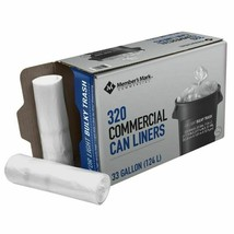 Member's Mark 33 Gallon Commercial Trash Bags (16 rolls of 20 ct., total... - $37.02