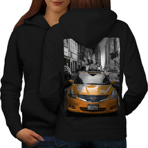 Big City Street Life Sweatshirt Hoody Taxi Drive Women Hoodie Back - $21.99+