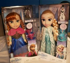 Set Of 2 Disney Frozen Tea Time with Princess Anna&Sven And Elsa&Olaf 14... - $99.99