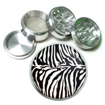 Wild Animal Prints D1 63mm Aluminum Kitchen Grinder 4 Piece Herbs & Spices Zebra - $13.81