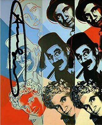 Andy Warhol, Marx Brothers Ten Portraits of Jews Hand signed offset lithograph