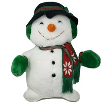"20"" VINTAGE 1993 JC PENNEY CHRISTMAS SNOWMAN STUFFED ANIMAL PLUSH TOY HO... - $55.17"