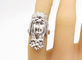 925 Sterling Silver - Vintage Sculpted Woman's Head Band Ring Sz 5.5 - R... - $54.27
