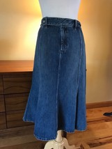"Vtg Ralph Lauren Denim Skirt FLARE  Hem.  Women's 8 ~ Waist 31"" - $34.65"