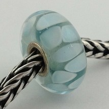 Authentic Trollbeads Light Blue Shadow Bead Charm 61407 New - $23.74