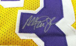 MAGIC JOHNSON / NBA HALL OF FAME / AUTOGRAPHED L.A. LAKERS CUSTOM JERSEY / COA image 4