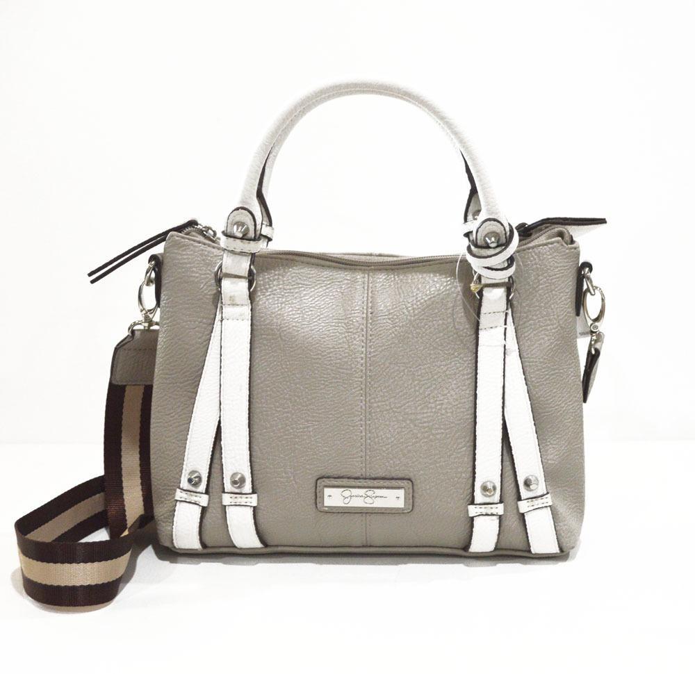 Jessica simpson handbag taupe gray crossbody 1
