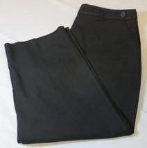 Mujer Talbots Elástico Pantalones Capri 12 Negro 219224-78 Nuevo Nwt - $37.45